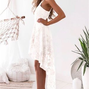 Lace Embroidered Sling Dress